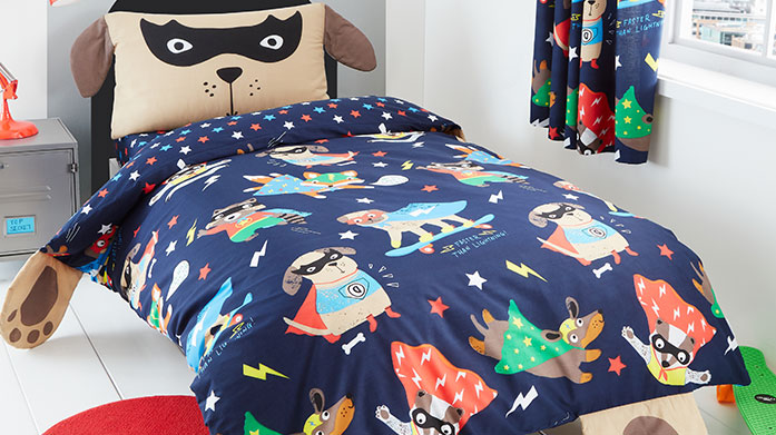 Catherine Lansfield Kids Bed Linen Send your little ones into sweet dreams with this fun and bright bed linen collection from Catherine Lansfield.
