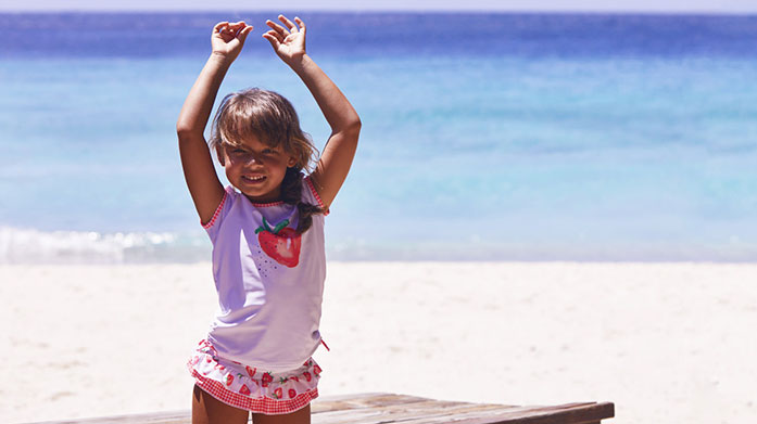 New Sunuva Swimwear Safeguard your littles ones from the sun in UV protective swimwear and clothing by Sunuva. Shop colourful prints for boys and girls!
