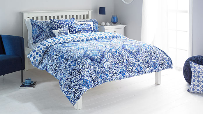 Paoletti Patterned Bedding From intricate blue toile patterns to bold animal designs, Paoletti's eclectic range of bed linen has a pattern to suit every bedroom.