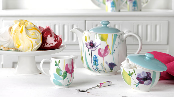 Portmeirion Group Brands Charming homeware from Portmeirion including mugs and plates from the Water Garden collection, blue toile crockery and even a Christmas tin or two.