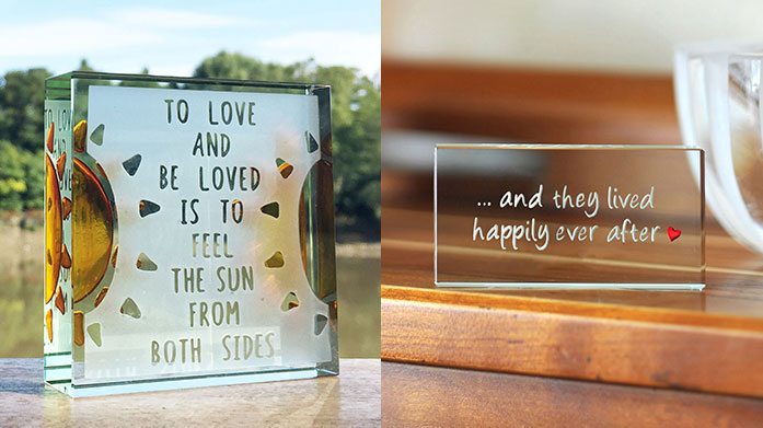 Spaceform Gifts Give your loved one the perfect personalised gift with a glass photo frame, keepsake, keyring or decorative ornament by Spaceform.