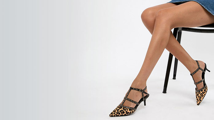 Stop, Shop & Stroll Stop! Shop and take a stroll in a pair of women's animal print slingbacks, leather sandals, patent stilettos or metallic pumps.