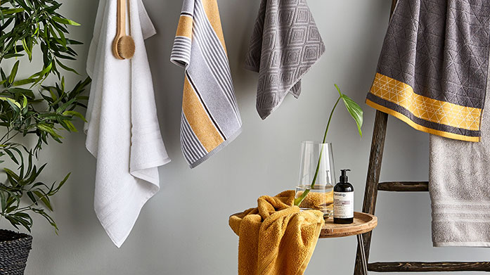 Towel Bales Cocoon yourself in luxury with a super soft set of towels from Catherine Lansfield. Shop bath sheets, hand towels, mats and more.