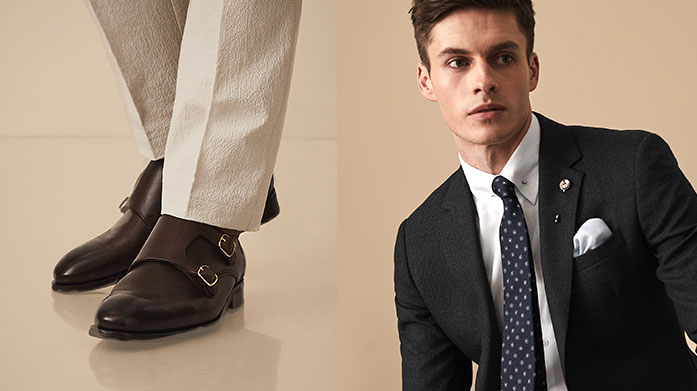 Reiss Men's Accessories & Footwear Add those finishing touches to your autumn outfits courtesy of Reiss. Shop men's brogues, boots and sneakers with accessories to match.