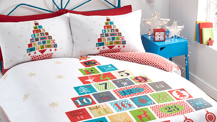 Festive Bed Linen Ho ho homeware to get you into the festive spirit! Our collection of Christmas bedding features reindeer, Santa Claus and a snowman or two.