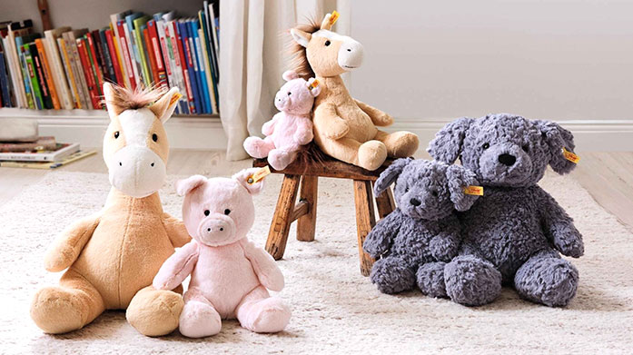 Steiff Adorable comforters, characterful stuffed animals and iconic cuddly teddy bears from world famous manufacturer, Steiff.