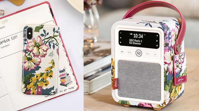 VQ DAB Radios Shop Emma Bridgewater, Laura Ashley and Lulu Guinness phone cases, compact mirrors and DAB Radios by sound experts, VQ.