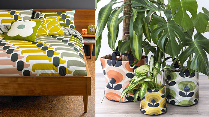 Orla Kiely Home & Gifts Treat a loved one and adorn your home with Orla Kiely's vintage-inspired, kitsch gifts, tableware and home accessories.