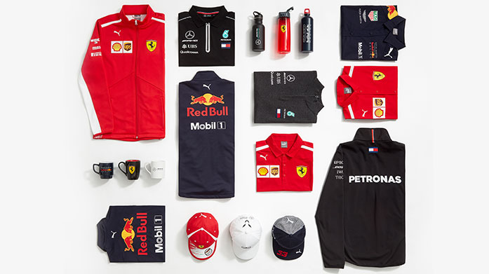 Formula One Favourites Formula One lovers will race to our latest official merchandise sale featuring jackets, sweatshirts, polo tops and accessories.