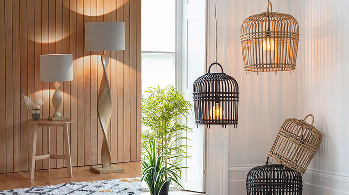 Gallery Lighting Make a modern affair of your lighting with sleek lines, contemporary glass pendant lamps, heavy duty designs and exposed filament bulbs.
