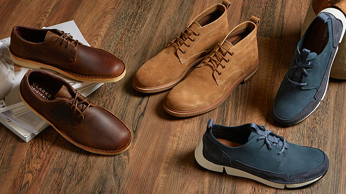 Clarks Men's - New Stock Added You can always count on Clarks for footwear staples to suit any occasion. There's trainers, more formal styles and classic boots in this edit - perfect for spring adventures.
