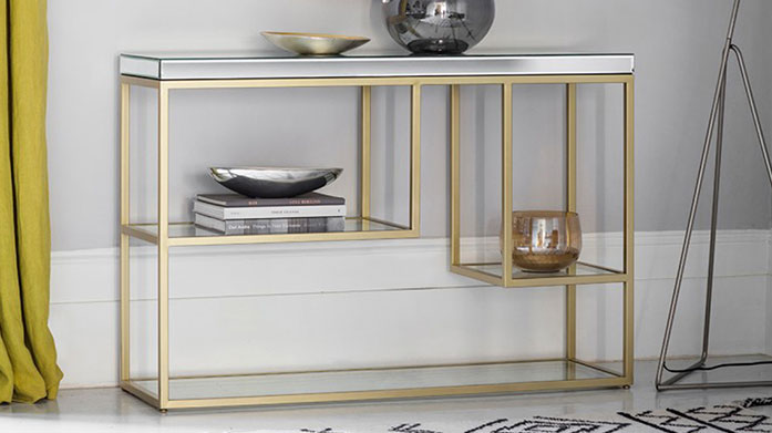 All that Glitters Furniture Elevate your at home glam with luxurious metallic finished furniture, sparkling wall mirrors, decadent dressing tables and more.