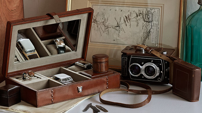 Life of Riley Store your watches and jewellery in a sleek leather case or jewellery box by Life of Riley.