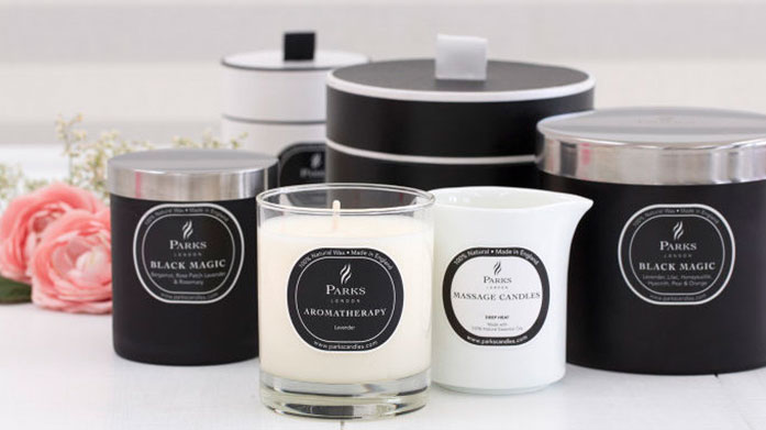 Parks London Infuse your home with luxuriously scented candles and diffusers each made in England by Parks.