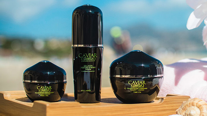 Caviar Skincare Collection Luxurious caviar and omega 3 skincare recommended by Vogue, Allure, Glamour, Women's Health and more!