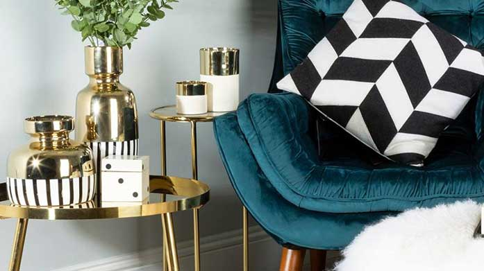 Dripped In Gold Home Accents Up the glam factor in your home with our sparkling collection of gold home accents. Theres decorative bowls, photo frames and more!