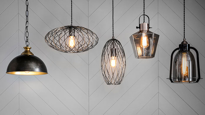 Gallery Lighting Make a modern affair of your lighting with sleek lines, contemporary gold accent lamps, heavy duty designs and exposed filament bulbs.
