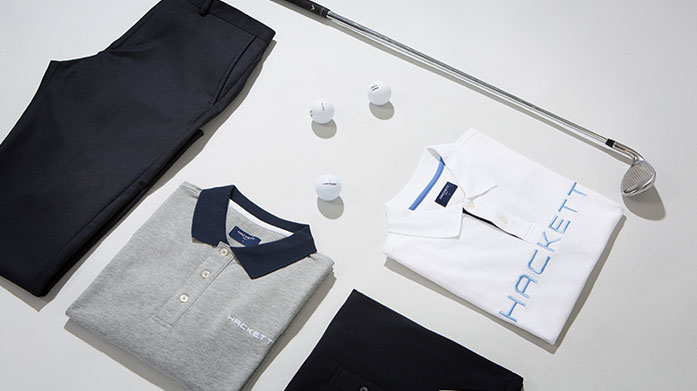 8e703191320a Essential British menswear for the modern golfer. Discover cotton shirts,  chinos, classic polo tops and more from Hackett Golf.