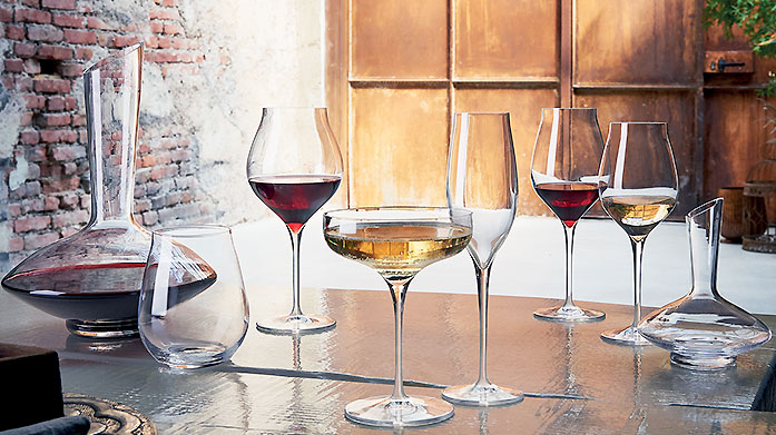 Luigi Bormioli Superior crystal glasses, tumblers, flutes and carafes crafted by traditional Italian manufacturers, Luigi Bormioli.