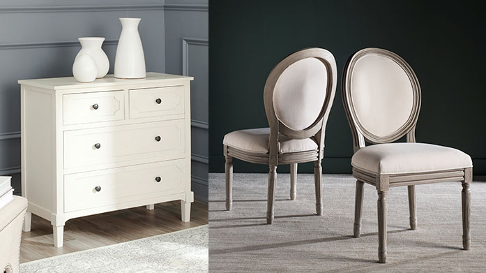 The White Room: Furniture Inspiration Bring a touch of the Hampton's interior design into your home with this curated collection of white, cream and natural furniture pieces.