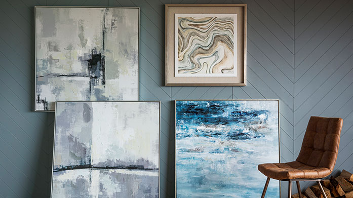 Gallery Art, Clocks & Mirrors Abstract wall mirrors, pastoral-inspired art and faux leather clocks will add a touch of contemporary luxe to your interiors.