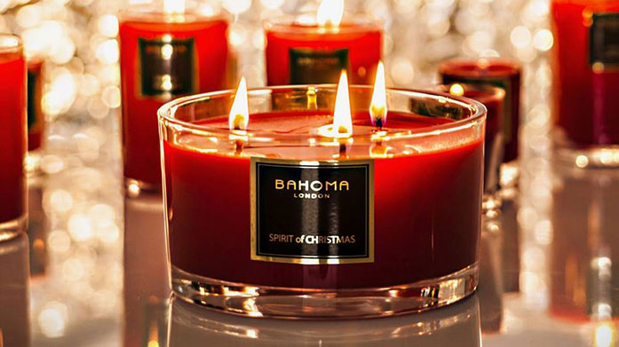 Bahoma Festive Candles & Diffusers Infuse your ho-ho-home with Bahoma's wonderfully scented Christmas candles and diffusers!