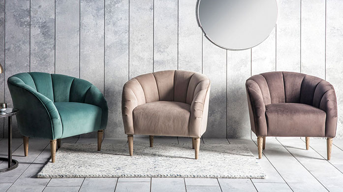 Bestselling Statement Chairs Gallery's best-selling arm chairs include luxe velvet armchairs, shabby chic dining chairs, leather sofas and upholstered stools.
