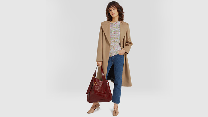 Mulberry Womenswear Our new Mulberry womenswear sale features gorgeous occasion dresses, classic winter coats, casual leathers and embroidered knitwear.