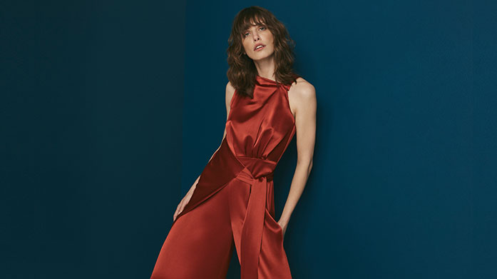 Outline Our latest Outline sale will have you party season ready, shop elegant satin dresses, occasion and party dresses and tailored jumpsuits.