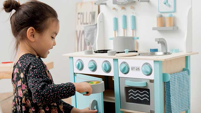 Santa's Pick: Wooden Kitchens Feed their imagination with a kids' wooden kitchenette, available in a range of colours for your little chef!