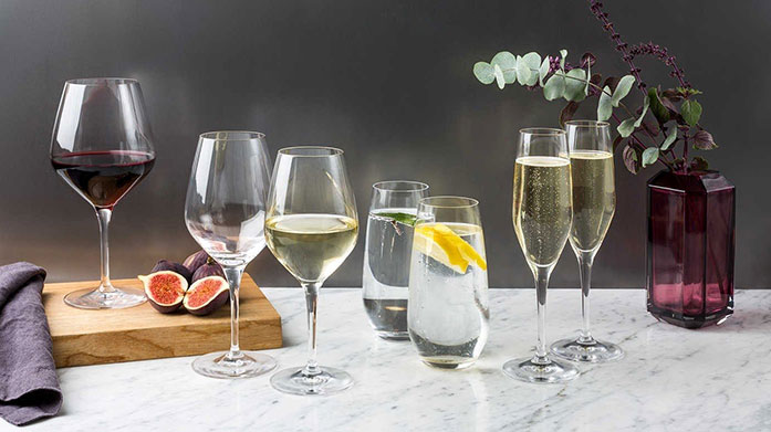 Spiegelau Christmas Drinks Party Serve a festive tipple, or two, in Spiegelau's refined crystal cut tumblers, champagne flutes and wine glasses, perfect for a Christmas soiree.
