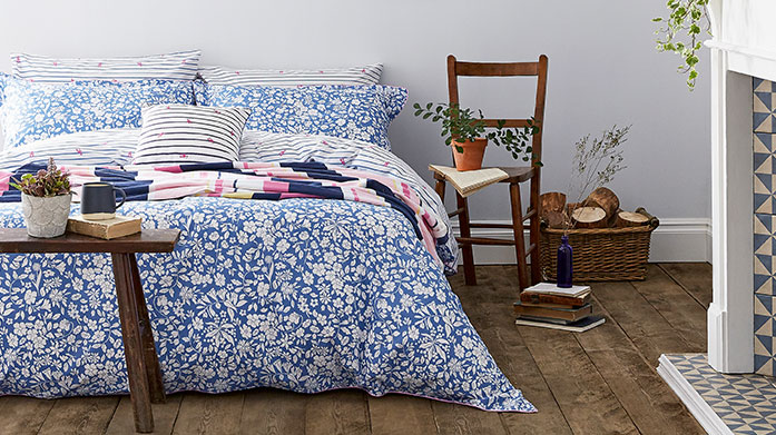 New In: Scion & Joules Bed Linen Our new collection of Joules and Scion linen features bedding, cushion covers and curtains in a range of pastel hues, geometric prints and soft patterns.