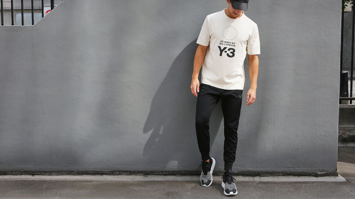 Adidas Y-3 Menswear Yohji Yamamoto partnered with adidas to bring you designer sports fashion from the East. Shop tracksuits, longline tees and shorts.