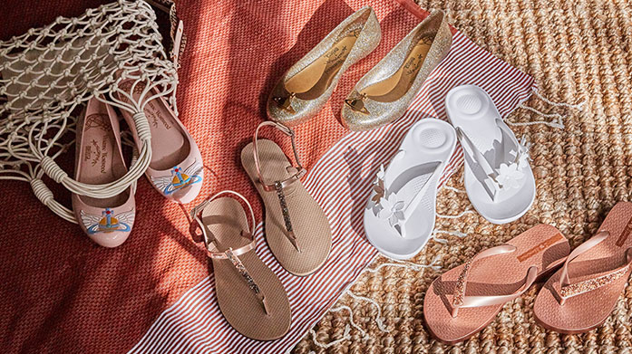 Dreaming About Summer Sandals  Treat your feet to some fresh summer sandals, ideal for the months ahead. Shop flats from Havaianas, wedges by Stuart Weitzman, and much more...