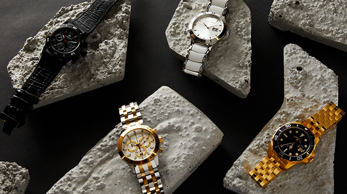 Luxury Watches for Him  Stunning luxury watches for him from Andre Belfort, Hindenberg, Chrono Diamond and more. Being on time never looked so good.