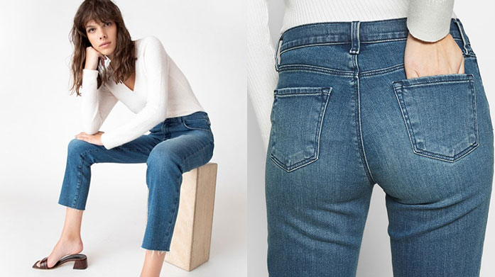 J Brand Women's Clearance For women's jeans and more that fit seamlessly into your life, choose J Brand. Shop best selling styles such as Maria, Alana and more from £49.