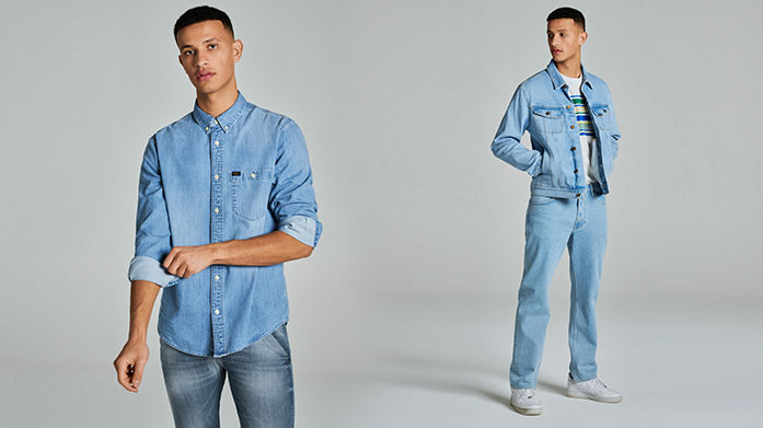 New! Lee Jeans Menswear Our debut Lee Jeans edit for him includes classic denim in a variation of cuts and colours. Shop Daren Straight, Luke Slim, everyday T-shirts, lightweight jackets and other wardrobe essentials to build up his staples. Jeans from £29.