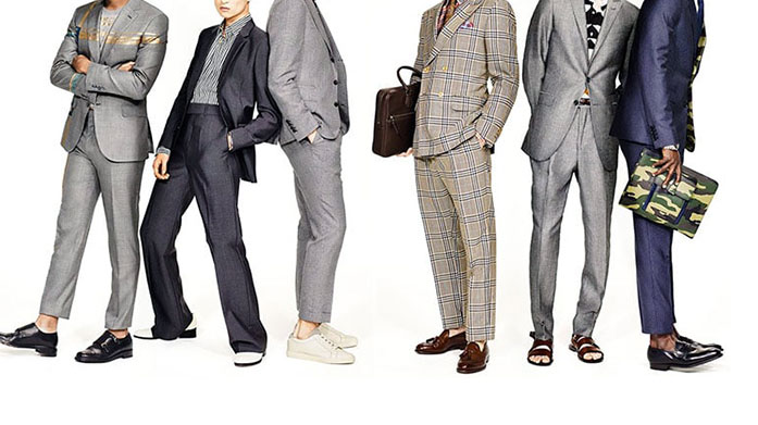 The Anarchic Wedding Guest Break the mould this wedding season by wearing trainers with a tapered leg, mis match suiting or dare you go sandals and suit?!