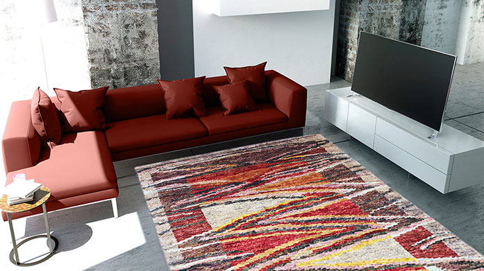 Iconic Design Rugs: From £75 Add the wow factor to any room with a luxurious rug. Choose from bold colours or stunning abstract prints. From £75