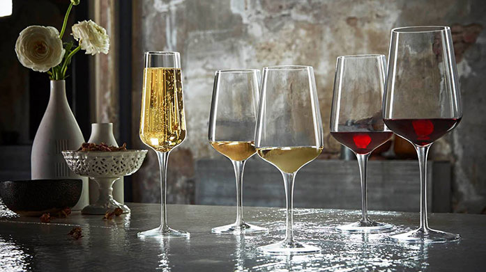 Party Glassware Essentials Entertain in style with beautiful crystal cut glasses, tumblers and champagne flutes, perfect for any party!