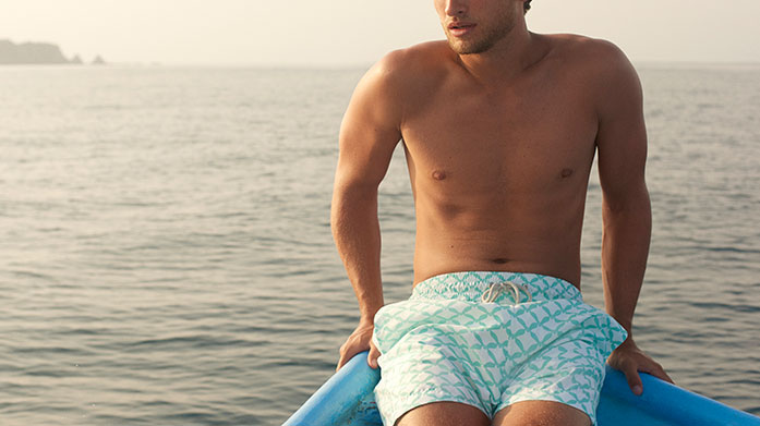 Love Brand & Co Swim Shorts Discover vibrant, stylish men's board shorts from the ethical and sustainable swimwear brand committed to elephant conservation, Love Brand & Co.
