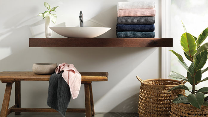 Sheridan & Christy Towels Refresh tired linens with some quality towels by Sheridan and Christy. Shop bath sheets, hand towels and bath mats in a range of colours.