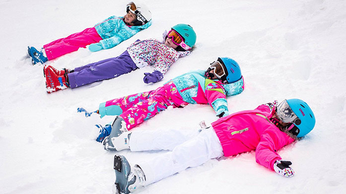 Snow Angels Get the kids kitted out for your next skiing holiday with ski jackets, salopettes, baselayers and thermal accessories by Spyder, Dare 2B and O'Neill.