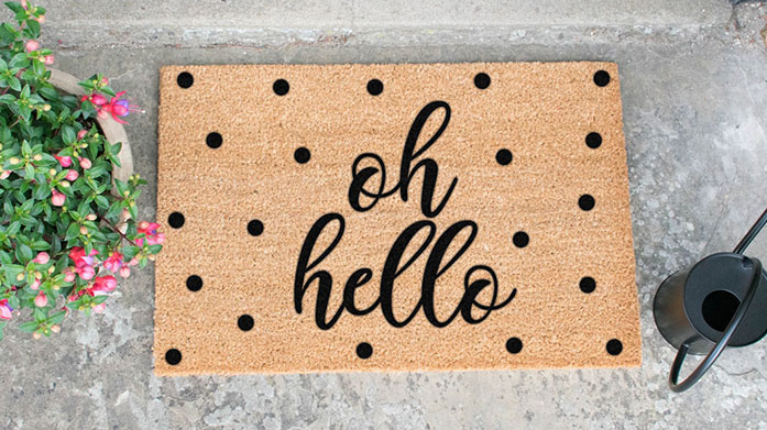 Artsy Doormats  Give some personality to your doorways with this quirky collection of doormats, from wild animal prints to witty puns and slogans.