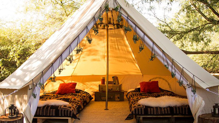 Garden Glamping For Her Enhance the garden glamping experience and make the most of your space with cosy chic clothing, practical footwear, tablewear, fragrant candles and more.