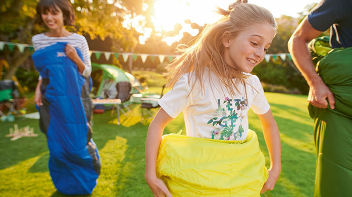 Garden Glamping Kids Make garden glamping more than just a novelty for the little ones and shop comfy, cosy clothing to camp out in from Regatta and Dare 2B. Available in sizes 6 months to 16 years.