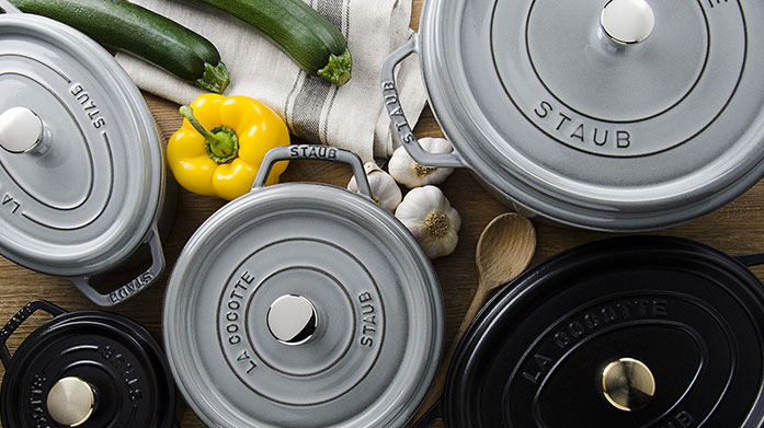 Staub Cast Iron & Stoneware Set the table with Staub when hosting friends this spring. Feast on our edit of cast iron pans, cooking pots and other essentials in this stylish sale.