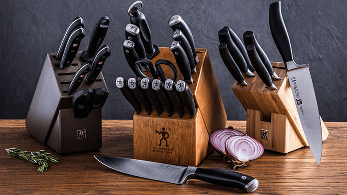 Zwilling Zwilling create quality kitchenware from precision knives and cutlery to chopping boards and glassware. Cook with ease, and in style too.