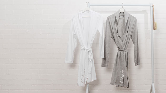 Calvin Klein Bathrobes & Beach Towels  Our latest Calvin Klein edit features luxurious, ultra-comfortable cotton bathrobes and colourful designer beach towels for your next getaway.