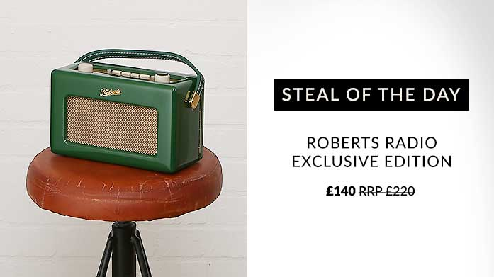 Steal of the Day: Royal Roberts Radio Give your home the royal treatment with this limited edition Windsor green radio from Roberts.